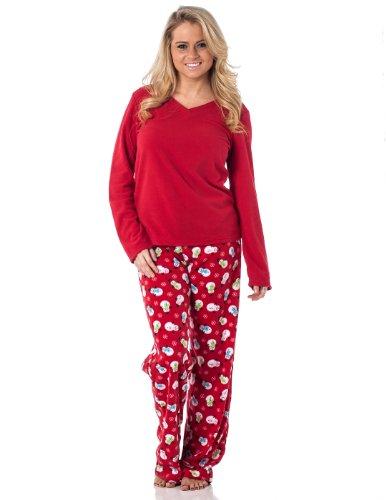 Alkii-Womens-Winter-Fleece-Lounge-Pajama-Set