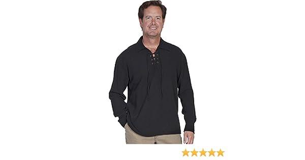 b90561f4b8 Scully Men s Cantina Lace-Up Shirt