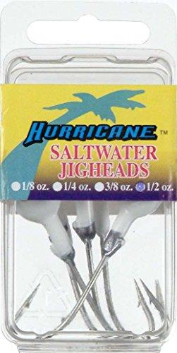 (Hurricane Saltwater Jighead, White, 1/2-Ounce)