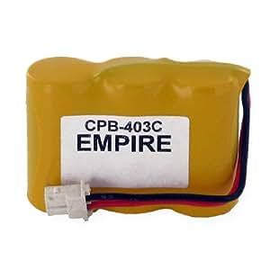 Empire CPB-403C Níquel Cadmio 400mAh 3.6V batería recargable - Batería/Pila recargable (400 mAh, Níquel-cadmio (NiCd), 3,6 V, Amarillo, Ultraalto)