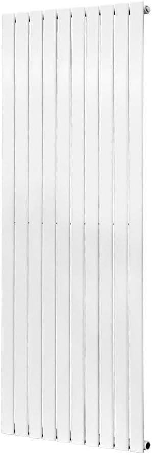 Hallway WarmeHaus Horizontal Designer Radiator Flat Panel Modern Heating Double Grey 600x1208mm Kitchen Modern Central Heating Space Saving Radiators Perfect for Bathrooms Living Room