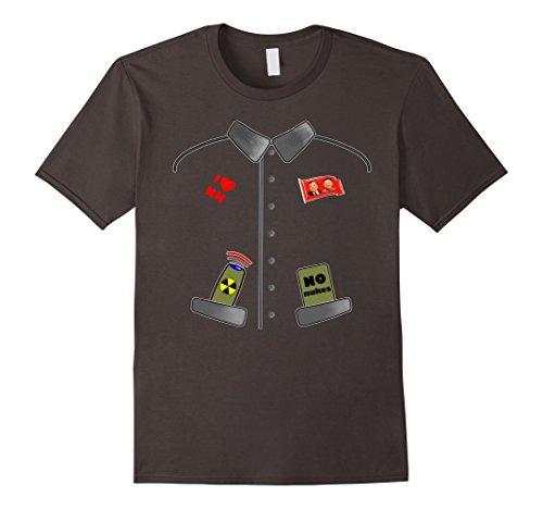 [Mens Funny Kim Jong Un Rocket Man Halloween Costume T-Shirt Large Asphalt] (Kim Halloween Costume)