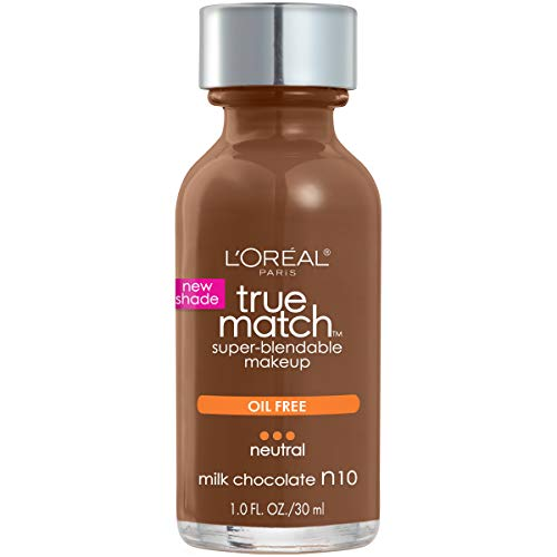 (L'Oreal Paris True Match Super-blendable Foundation, for Deep Skin Tone, N10 Milk Chocolate 30)