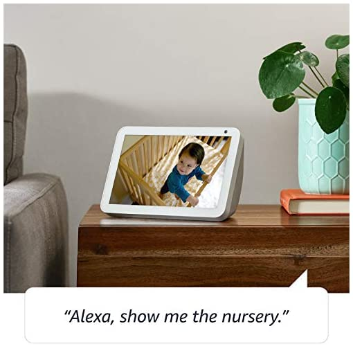 Introducing Echo Show 8 | Stay in touch with the help of Alexa, Charcoal fabric