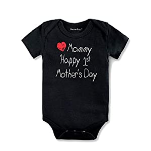 BesserBay Happy 1st Mother's Day Baby Bodysuit Infant Mother's Day Shirt