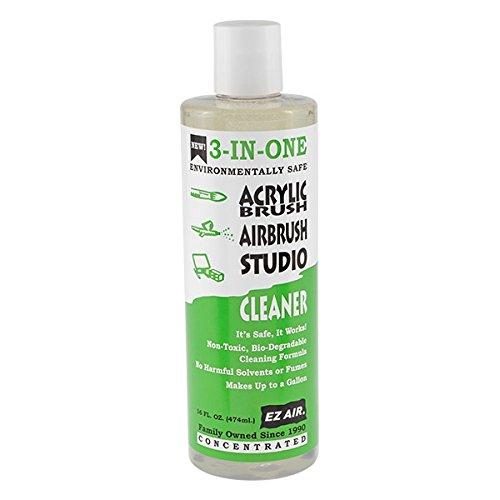 EZ Air Acrylic Brush Cleaner Bottle, 16-Ounce
