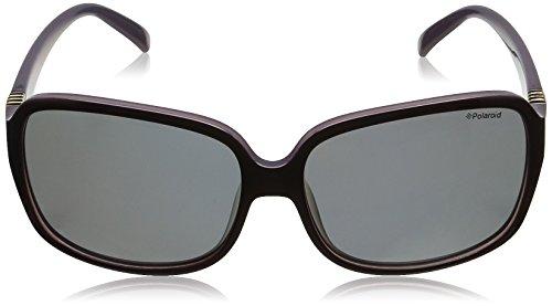 Plum Morado S PLD Gafas 5006 Grey para Polaroid Pz mujer sol de Rectangulares Lilac wzwYZv