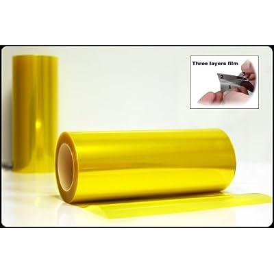 Optix Yellow Tint Vinyl Film Gloss Headlight Fog Lights - 12