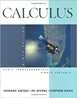 Book Calculus Early Transcendentals Single Variable by Howard Anton (2008-12-09)