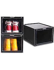 SoleMate AJ Premium Jumbo Shoe Box, Black, 37.5x28x22cm, (MS-2555-BLACK)