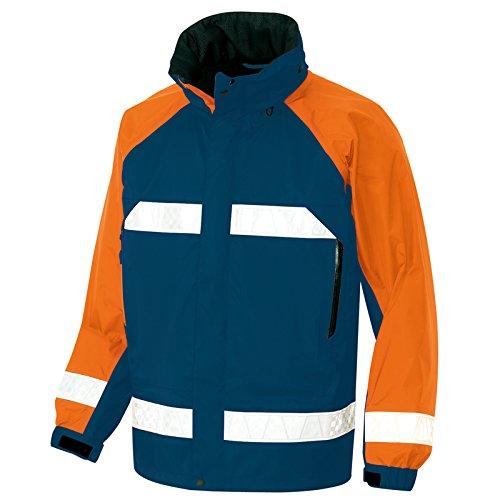 (DIAPLEX) デュアプレックス (防水透湿) 全天候型リフレクタージャケットレインウエア(反射材付) (AZ56303) 【S~5Lサイズ展開】 B00XJ6I3O2 3L|ネイビーXオレンジ ネイビーXオレンジ 3L