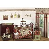 Sweet Jojo Designs 4-Piece Monkey Kids Bedding Boys Twin Set