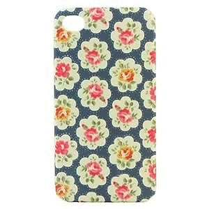 Elegante Carcasa de Flores para el iPhone 4G - Azul