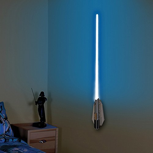 Uncle Milton Star Wars Deluxe Lightsaber Room Light - 8 Different Blade Handheld Remote ()