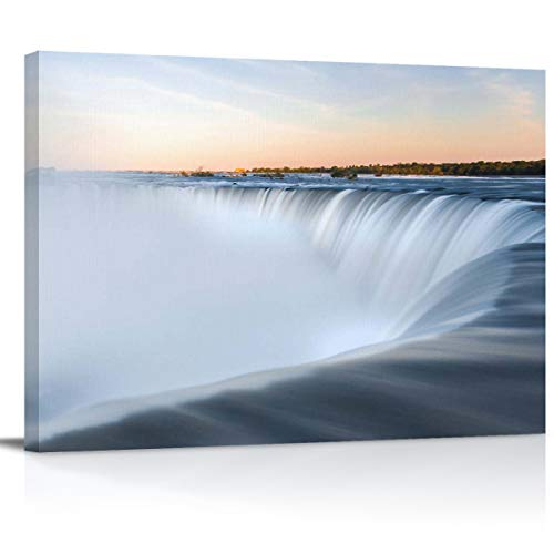 Arts Language Canvas Print Wall Art Spectacular Niagara Falls in The Sunset Picture Painting Modern Giclee Framed Artwork for Livingroom/Bedroom/Bathroom/Office Decor ()
