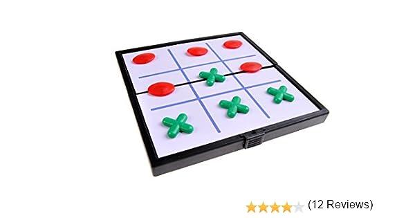 Quantum Abacus Juego de Mesa magnético (versión Super Mini de Viaje): Tres en línea - Piezas magnéticas, Tablero Plegable, 12,8cm x 12,8cm x 1cm, Mod. SC3660 (DE): Amazon.es: Juguetes y juegos