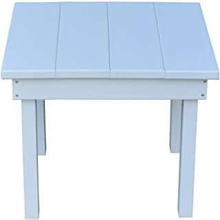 product image for Outdoor Hampton End Table - White Poly Lumber - Recycled Plastic