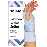 Amazon Brand - Solimo Women's Wrist Splint, Left Hand, One Size