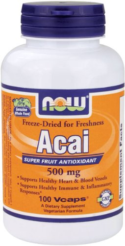NOW Foods Acai 500mg, 100 Vcaps