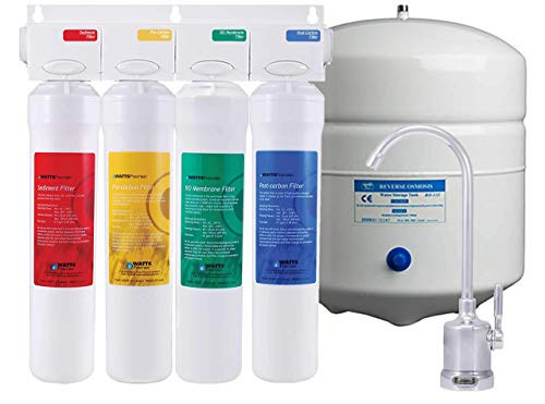 Watts Premier WP531411 531411, RO-Pure 4-Stage Reverse Osmosis Water Filtration System (Renewed)