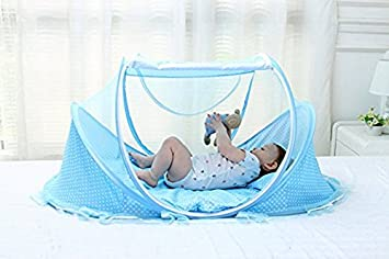 aumey baby travel bed little pop up bed baby bed portable folding baby crib mosquito net