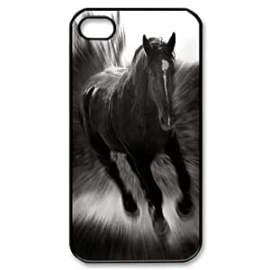 Galloping horse Custom Durable Hard Plastic Case Cover LUQ280358 For Iphone 4,4S