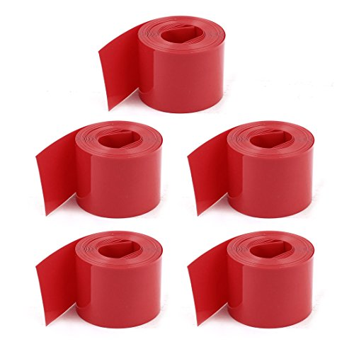 Uxcell PVC Heat Shrink Wrap Tubing Wire, 23 mm for 1xAA Battery, 6.5′, Red