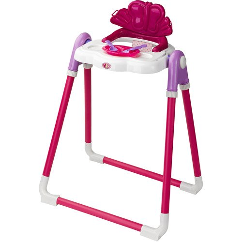 Badger Basket Modern Doll High Chair with Feeding
