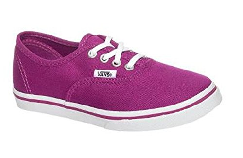 cfb9b297df2 Galleon - Vans Girls Authentic Lo Pro Deep Orchid True White Sneakers Kids ( 10.5)