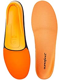 ORANGE Insoles, High Arch Support and Forefoot Cushion Orthotic Insole for Anti-fatigue, Unisex, Orange