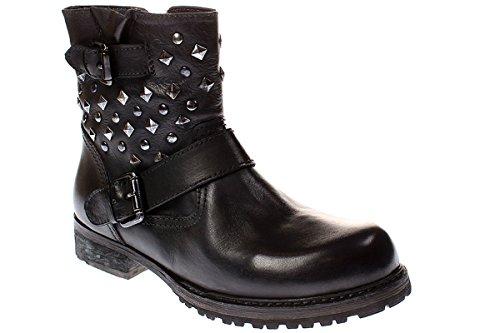 Inuovo Damen Moonbow Biker Boots Schwarz (Black)