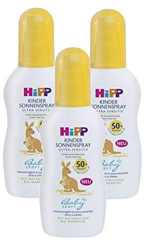 Hipp Babysanft aerosol sol SPF 30, paquete de 3 (3 x 150ml)