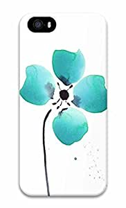Unique Design Cases for iPhone 5 3D Four Green Petals Cover
