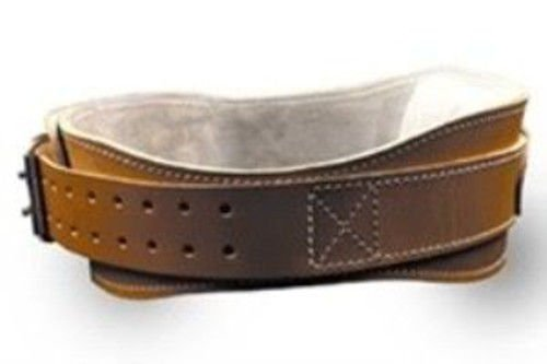 GHP Double Prong Stainless Steel Buckle 4 3/4 Leather Support Exercise Belt by Globe House Products