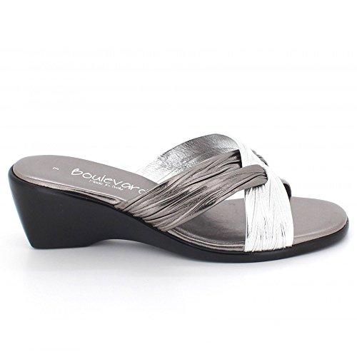 Party AARZ Größe Lässig Komfort Sandalen Mule Tragen LONDON Keilabsatz Zinn Frauen Damen Abend Schuhe rwTzrpq