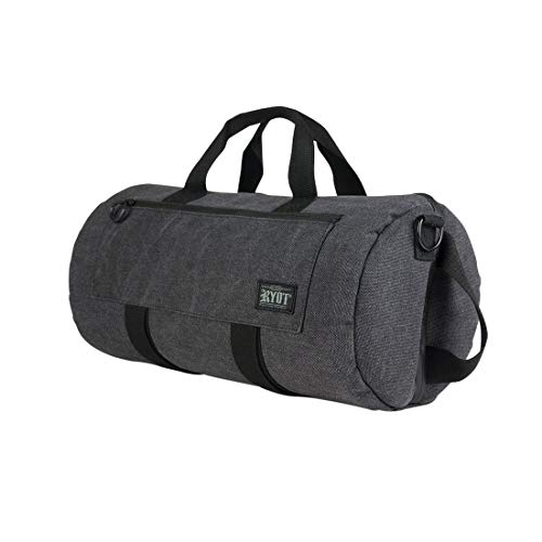 RYOT Pro Duffle Bag - Carbon Series with SmellSafe and Lockable Technology (Black, ()