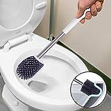 BOOMJOY Toilet Brush and Holder Set, Silicone