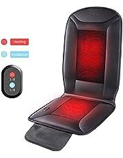 Naipo Auto Sitzkissen Sitzbezug mit Heizung und Belüftung Funktion und 3D Mesh PU-Leder tragbare atmungsaktive Abdeckung für Car Home Office Stuhl, ganzjährige Nutzung