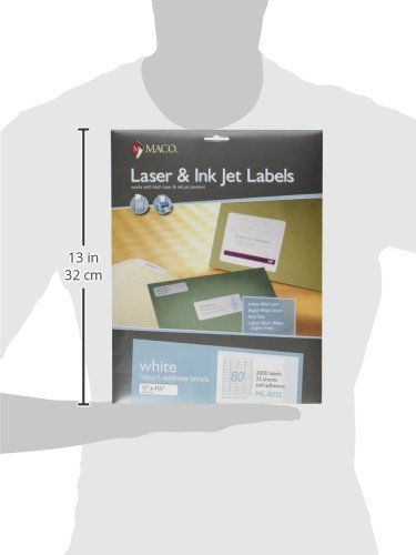 Maco laser ink jet white return address labels 1 2 x 1 3 for Maco laser and inkjet labels template