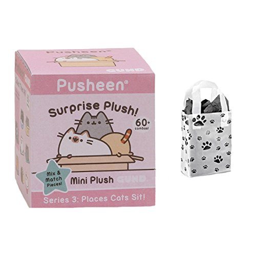 GUND Pusheen Mystery Surprise Plush Box Series 3 and Gift Bag Multi-pack (Box Seat Series 3)