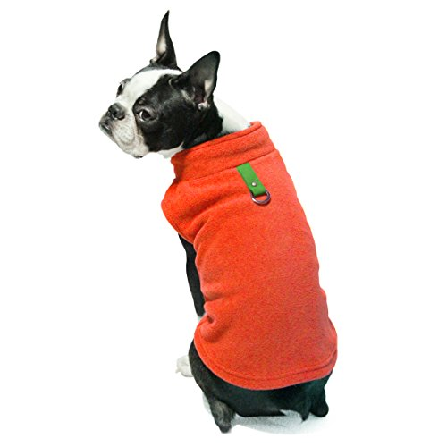 Gooby Every Day Fleece Cold Weather Dog Vest for Small Dogs, Pumpkin, ()