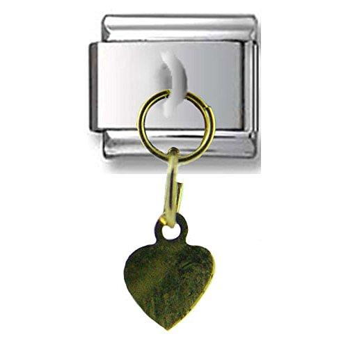 Dangle Gold Heart Italian charm