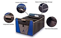 Premium DOG SUPPLY ORGANIZER - Best For Pet Travel Accessories, Store PET SUPPLIES At Home or in the Car, Quickly Folds Up To Save Space. 2 Large Compartments - Plus Pockets - Makes a Great Gift.