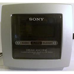 SONY TV/Weather/FM/AM PLL Synthesized Clock Radio, (Dream Machine), ICF-C113V