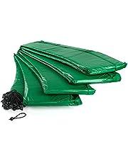 Ampel 24 trampoline randafdekking, passend voor trampoline Ø 305-490 cm, scheurbestendige veerafdekking en blauwe of groene UV-bestendige beschermrand
