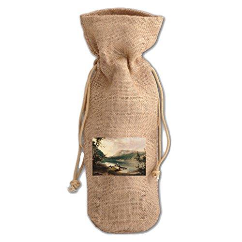 (Delaware Water Gap (Doughty) Jute Burlap Burlap Wine Drawstring Bag)