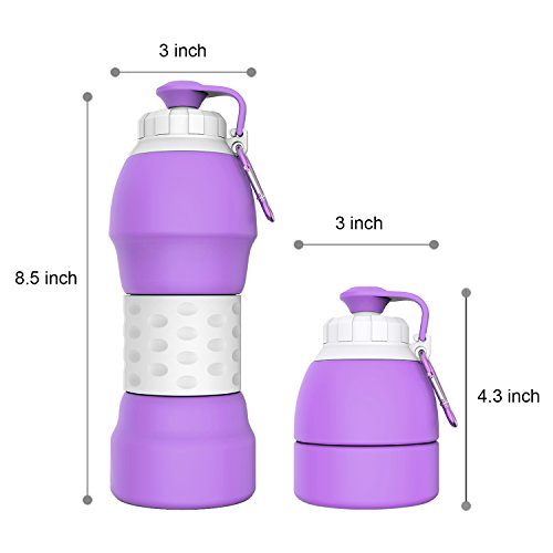 Review GITKARL Collapsible Water Bottle,