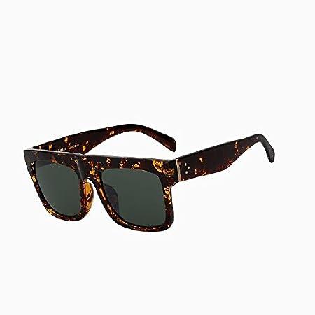 TIANLIANG04 Vintage Sonnenbrille, Damen, mit Top-Sonnenbrille, Brille mit groß quadratisch oculos mit UV400, Black blue frame