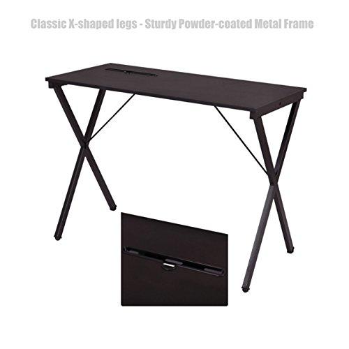 Modern Design Laptop Computer Desk Space Saving Solid Powder Coated Steel Frame Durable Workstation Home Decor Office Furniture #1377 by Koonlert Shop