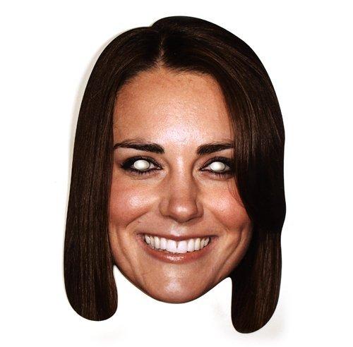 Kate Middleton Celebrity Cardboard Mask - (Prince William Kate Middleton Costume)